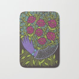 I Picked You These Flowers Bath Mat