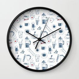 Coffee addict Wall Clock