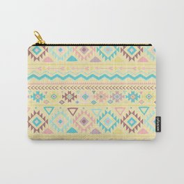Abstract burgundy pink teal yellow aztec tribal pattern Carry-All Pouch
