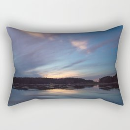 Just before the night arrives Rectangular Pillow