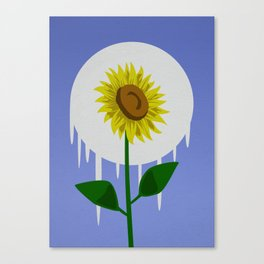 Sunflower in the Moon Canvas Print