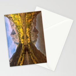 mountains. Mirror Lake Stationery Cards