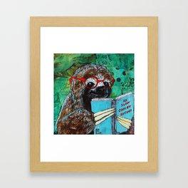 Sloth Reader Framed Art Print