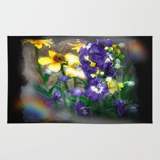 wildflowers / nature, flora, still life,  Rug