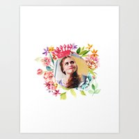 lydia martin Art Prints featuring queen lydia martin by churity