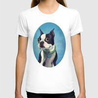 terrier T-shirts featuring Boston Terrier by Jackie Sullivan