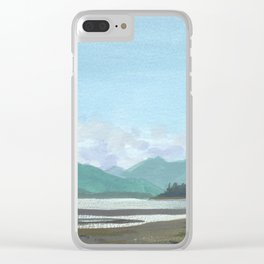 SITKA SOUND 03, Sitka Travel Sketch by Frank-Joseph Clear iPhone Case