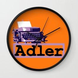 Adler Typewriter Wall Clock