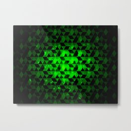 See in green. Metal Print