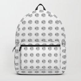 Black London Pattern Backpack