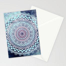 BLUE AUTUMN BOHO MANDALA Stationery Cards