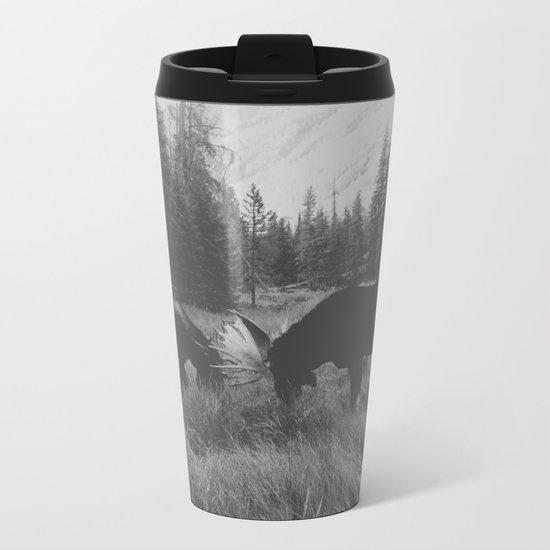 Moose Battle Metal Travel Mug