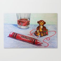 Crayon Love My Monkey is up to Something Canvas Print