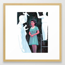 """""""The Woman the Mercury Astronauts Couldn't Do Without"""" by Richie Pope for Nautilus Framed Art Print"""