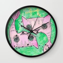 """""""Oro?"""" Pisces Wall Clock"""