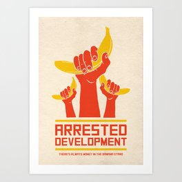 Arrested Development Alternative Poster - Banana Art Print