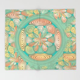 Tropical color abstract Throw Blanket