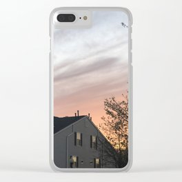 A Homey Sunset Clear iPhone Case