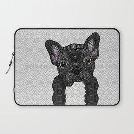 Black Frenchie 001 Laptop Sleeve