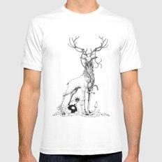 Da deer White Mens Fitted Tee MEDIUM