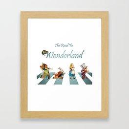 The Road To Wonderland Framed Art Print
