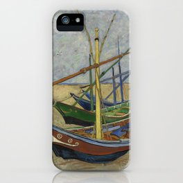 "Vincent Van Gogh ""Fishing boats on the Beach at Les Saintes-Maries-de-la-Mer"" iPhone Case"