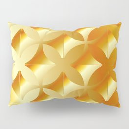 Texture with gold flowers Pillow Sham