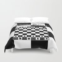 chess Duvet Covers featuring Chess Game by Maxvision