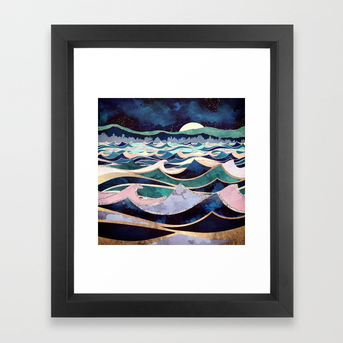 Moonlit Ocean Framed Art Print