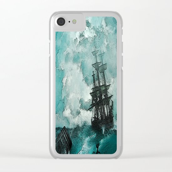 Ship painted Clear iPhone Case