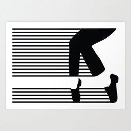 M.J. Moonwalk Art Print
