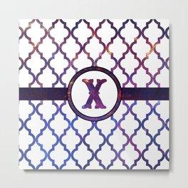 Galaxy Monogram: Letter X Metal Print