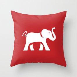 White Elephant Throw Pillow