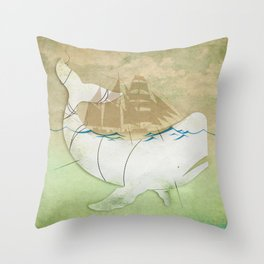 The ghost of Captain Ahab, Moby Dick Throw Pillow