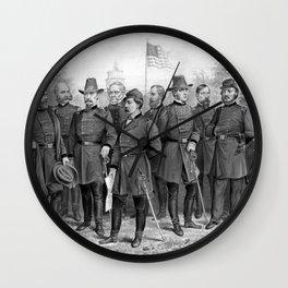 Union Generals of The Civil War Wall Clock