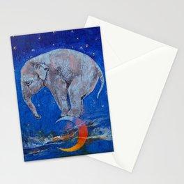 Baby Elephant Moon Stationery Cards