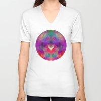 rorschach V-neck T-shirts featuring Rorschach  by Marta Olga Klara