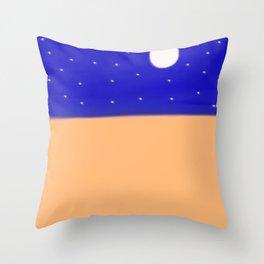 A Clear Desert Night Throw Pillow