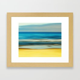 sea and sand Framed Art Print