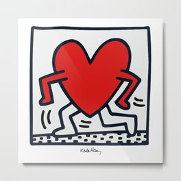 KEITH HARING - HEART WALKING Metal Print