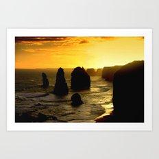 Sunset over the Twelve Apostles - Australia Art Print