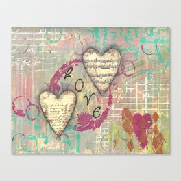 Two Hearts in Love Canvas Print