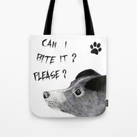 sia Tote Bags featuring My Love Nihal by Puddingshades