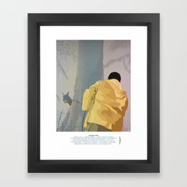 Jurassic Park - Dennis and the Dilophosaurus Framed Art Print