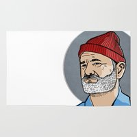 zissou Area & Throw Rugs featuring Zissou by Max the Kid