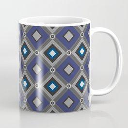 Vintage Quilted Patchwork Retro Geometric Seamless Pattern Coffee Mug