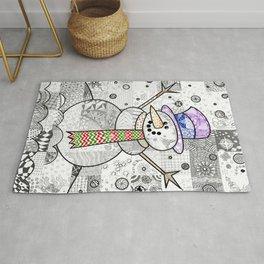 Coloured Snowman Rug