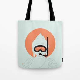 Buddha : Take A Deep Breath! Tote Bag