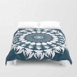 Navy Blue Mandala Duvet Cover