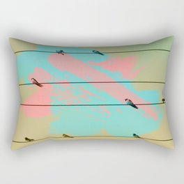 Birds of a Feather, Birds on Wires Rectangular Pillow